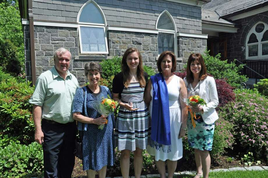 On June 9, the Annette Kritzer Memorial Scholarship was presented to Kate Bushell. From left, Brad Bushell (father of Kate Bushell); Germaine Kritzer-Koomen (sister of Annette Kritzer); Kate Bushell, Penny Bushell (mother of Kate Bushell); and Rachelle Kritzer-Filipek (sister of Annette Kritzer). Photo: Contributed Photo