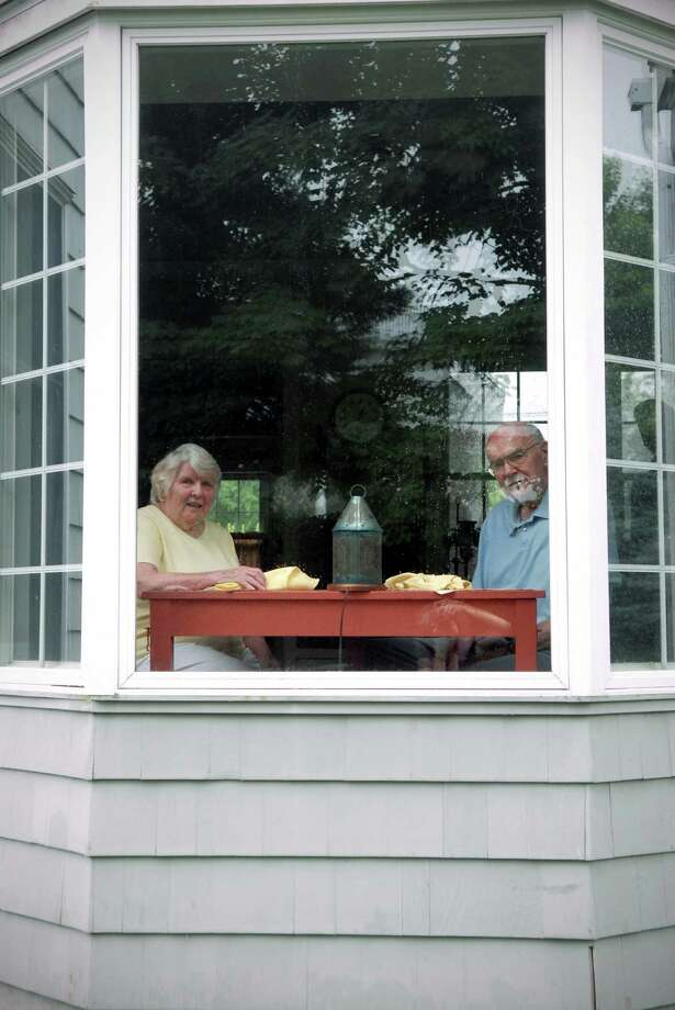 Jim and Sandy Palma at home on Clovelly Rd in Stamford, Conn. on Monday July 1, 2013 where they have lived for over 50 years. Photo: Dru Nadler / Stamford Advocate Freelance