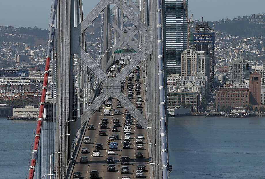 According to a study released  by Kirkland, Wash.-based data firm INRIX, San Francisco's traffic congestion  ranks as among the worst in North America among large metros. Check out how the  city fared compared to other American and Canadian cities.Note: The following areas are ranked in terms of their overall  congestion, not just hours wasted due to traffic jams. We also include ranking from 2013. Photo: Justin Sullivan, Getty Images