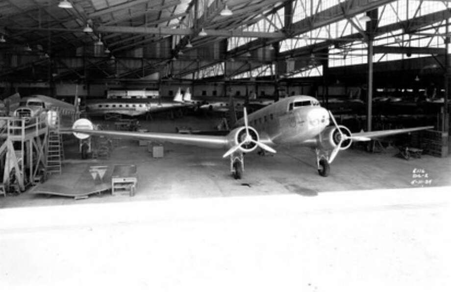 TWA ordered 25 of a larger version, the DC-2, which could carry 14 passengers, and reach 200 mph and 22,450 feet. The first DC-2, nicknamed The Sky Chief, first flew on on May 11, 1934. Photo: The Boeing Co.