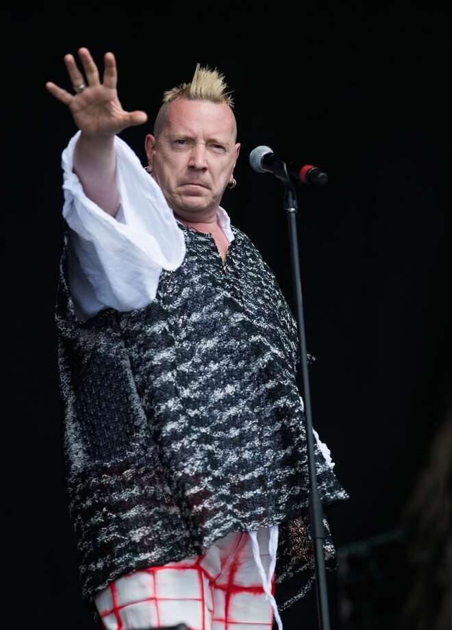 GLASTONBURY, UNITED KINGDOM - JUNE 30: John Lydon of Public Image Ltd performs on the Other Stage at the Glastonbury Festival of Contemporary Performing Arts at Worthy Farm, Pilton on June 30, 2013 in Glastonbury, England. (Photo by Samir Hussein/Redferns via Getty Images)