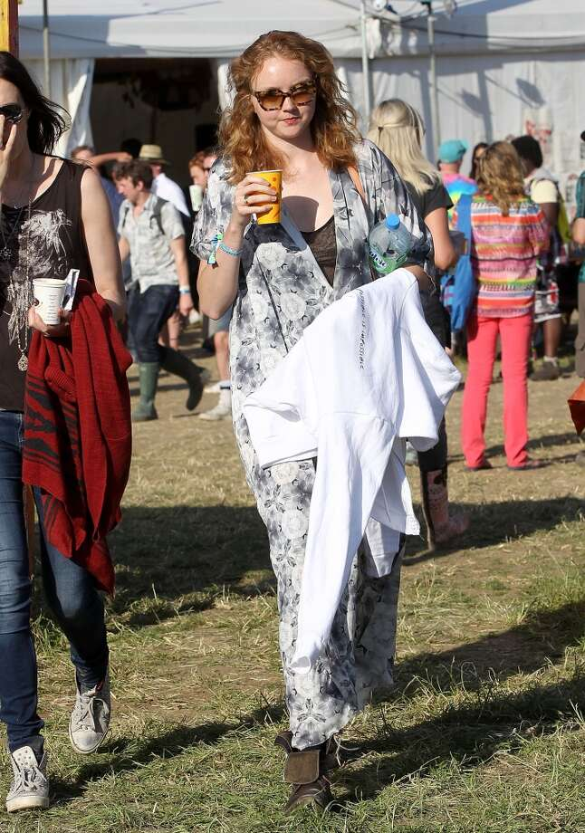 GLASTONBURY, ENGLAND - JUNE 29:  Lily Cole attends day 3 of the 2013 Glastonbury Festival at Worthy Farm on June 29, 2013 in Glastonbury, England.  (Photo by Danny Martindale/WireImage)
