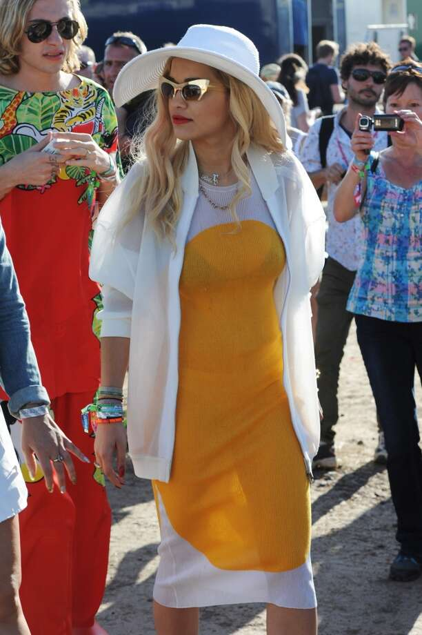 GLASTONBURY, ENGLAND - JUNE 29:  Rita Ora attends day 3 of the 2013 Glastonbury Festival at Worthy Farm on June 29, 2013 in Glastonbury, England.  (Photo by Dave J Hogan/Getty Images)