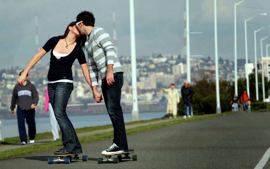 If two wheels aren't enough for you, take to the long, smooth sections of Alki Beach with a longboard for a cruise with your significant other. (Photo by Karen Ducey; Seattle Post-Intelligencer file) Photo: Karen Ducey, The Seattle Post-Intelligencer / SEATTLEPI.COM