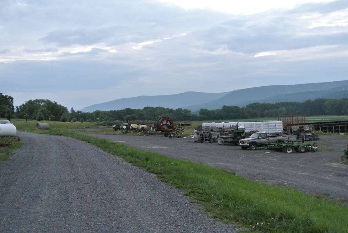 The view down the Schoharie Creek Basin from Schoharie Valley Farms, Schoharie NY.