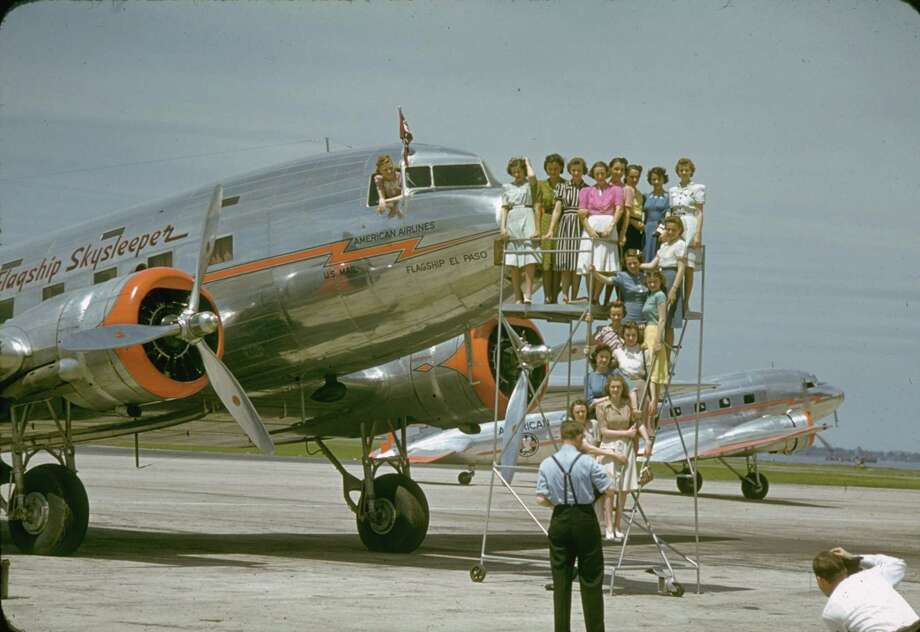 The first DC-3 version, the Douglas Skysleeper Transport, featured 14  plush seats that could be folded in pairs to form seven berths in four  main compartments, plus seven berths that folded down from the cabin  ceiling. Douglas delivered the first one to American Airlines in June  1936, followed two months later by the standard DC-3, which carried 21  passengers. Photo: Charles Fenno Jacobs, Time & Life Pictures/Getty Image / Charles Fenno Jacobs
