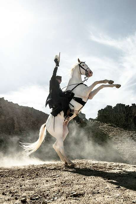 """THE LONE RANGER""Armie Hammer as The Lone Ranger and Silver Photo: Peter Mountain, Walt Disney Films"