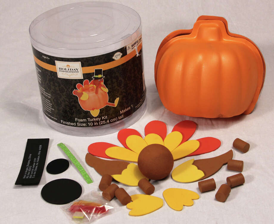 "Foam Pumpkin Turkey Craft Kit – ""Magnets holding the pumpkin shell pieces together can become loose, posing an ingestion hazard to young children. If swallowed, these magnets can link together inside a child's intestines and clamp onto body tissues, causing intestinal obstructions, perforations, sepsis and death. Internal injury from magnets can pose serious lifelong health effects,"" the Consumer Product Safety Commission reports. Photo: Consumer Product Safety Commission Photos"