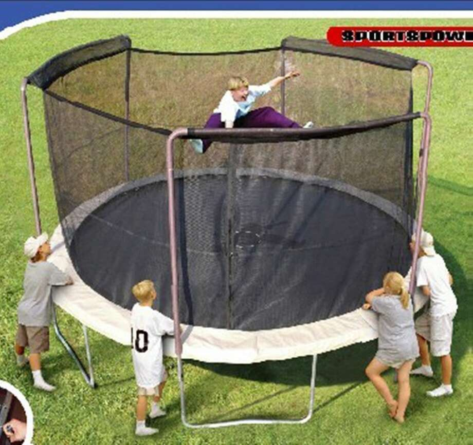 "Sportspower BouncePro 14 foot trampolines – ""The netting surrounding these trampolines can break, allowing children to fall through the netting and be injured,"" the Consumer Product Safety Commission reports. Photo: Consumer Product Safety Commission Photos"