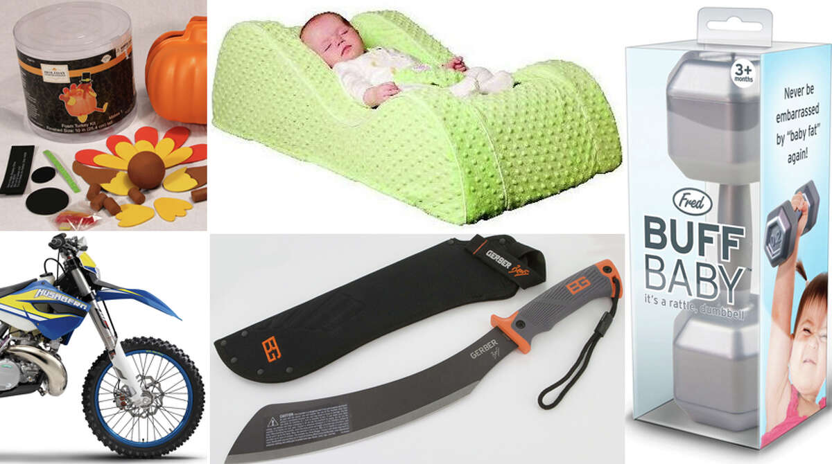 Each month, the federal Consumer Product Safety Commission recalls dozens of defective products sold to Americans. Click through for a look at some of the strangest recalls. For more information, check out CPSC.gov.