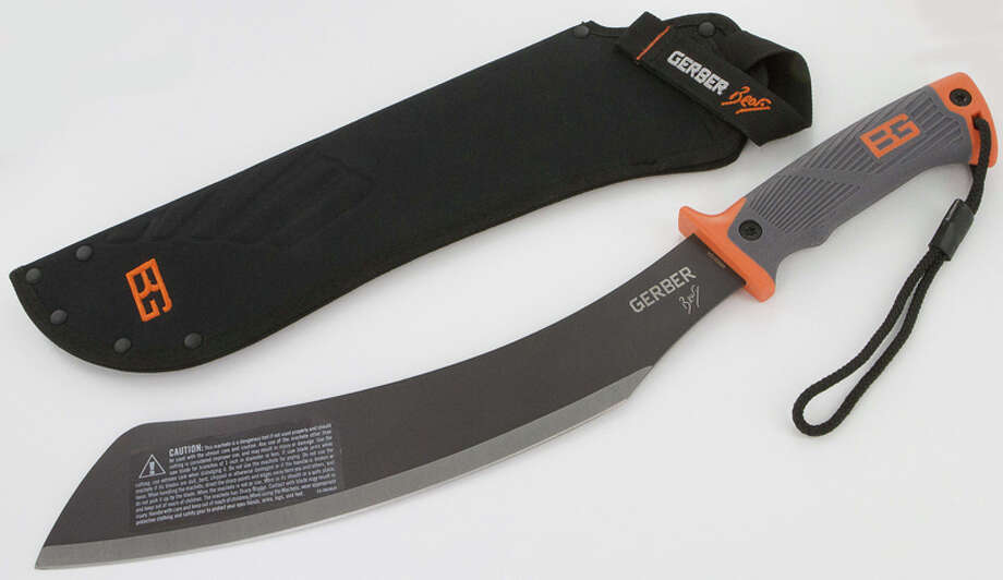"Gerber Bear Grylls Parang Machete – ""The Parang machete can cut through the stitching of the sheaths when the blade is taken from or replaced in the sheath, posing a laceration hazard,"" the Consumer Product Safety Commission reports. Photo: Consumer Product Safety Commission Photos"