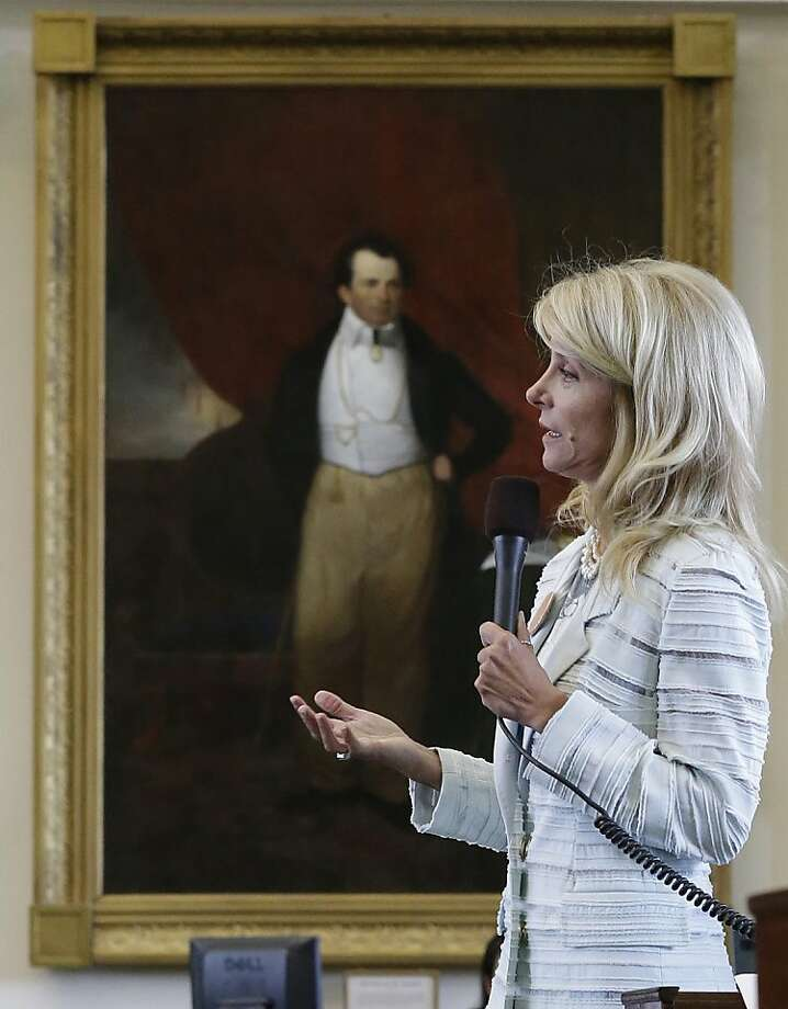 Texas Sen. Wendy Davis filibustered an abortion bill for 11 hours on June 25. Photo: Eric Gay, Associated Press