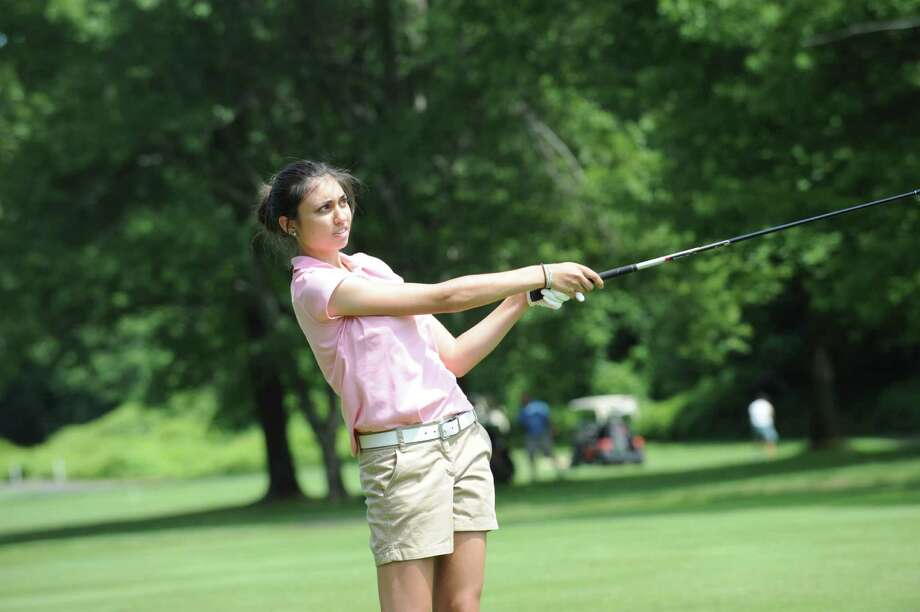 Brooke Nethercott finished second in the Townwide Flight in the Women's Town Golf Tournament on Monday, July 9 2012 at Griffith E. Harris Golf Course in Greenwich. Photo: Helen Neafsey / Greenwich Time