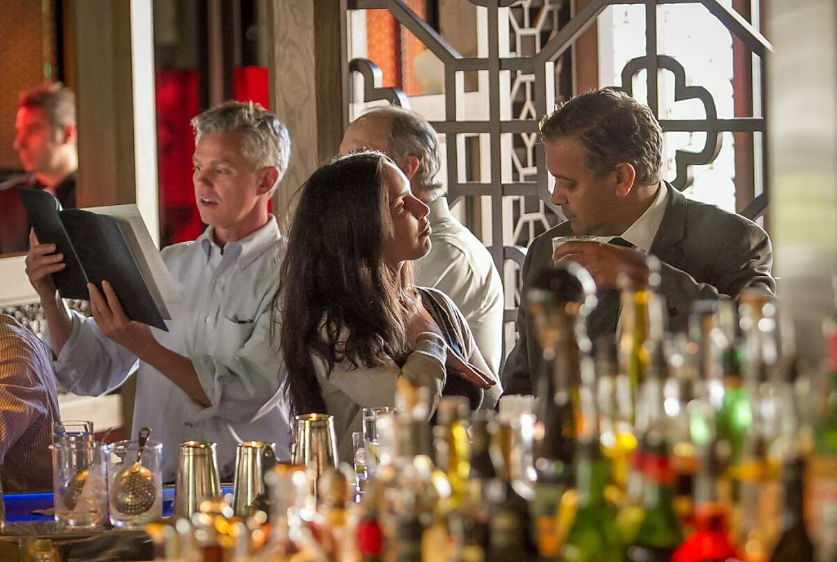 People enjoy Happy Hour at Hakkasan in San Francisco, Calif., on Thursday, June 27th, 2013.