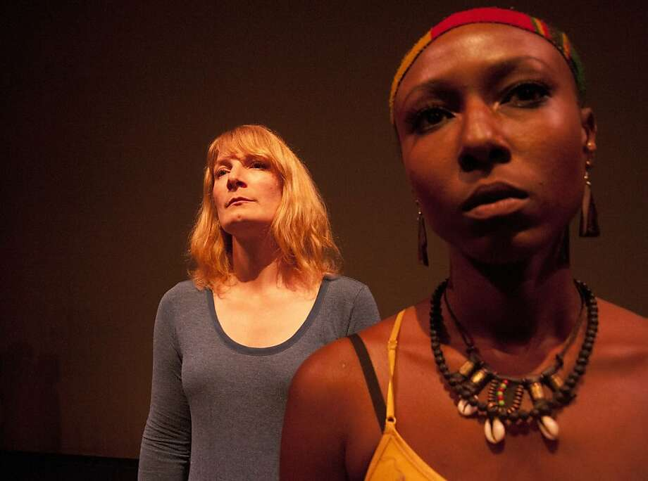 "Lisa Anne Porter (left) as Katherine and Britney Frazier as Rehema in the tense ""In a Daughter's Eyes"" at Brava Theater in San Francisco. Photo: Anastacia Powers Cuellar"
