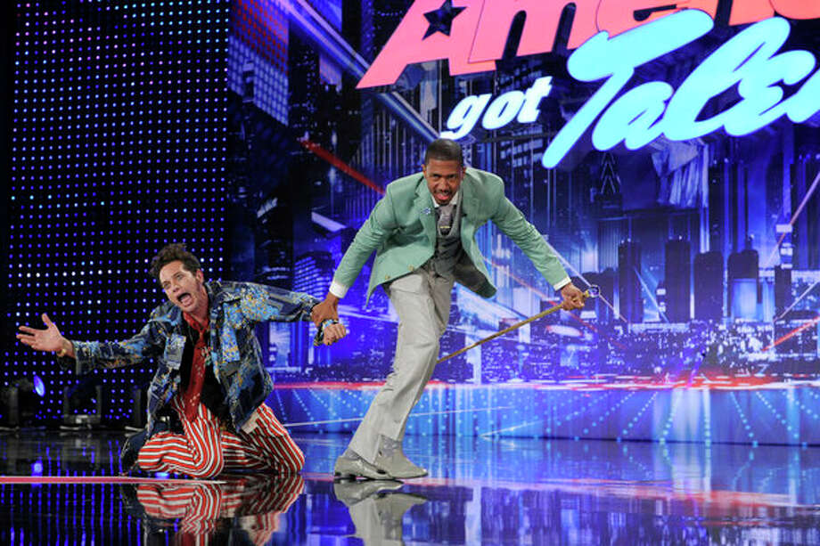 AMERICA'S GOT TALENT -- Episode 804 -- Pictured: (l-r) Jacob Calle, Nick Cannon -- Photo: NBC, Virginia Sherwood/NBC / 2013 NBCUniversal Media, LLC.
