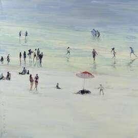 """""""Ocean Beach,"""" 36""""x36"""", oil on canvas"""