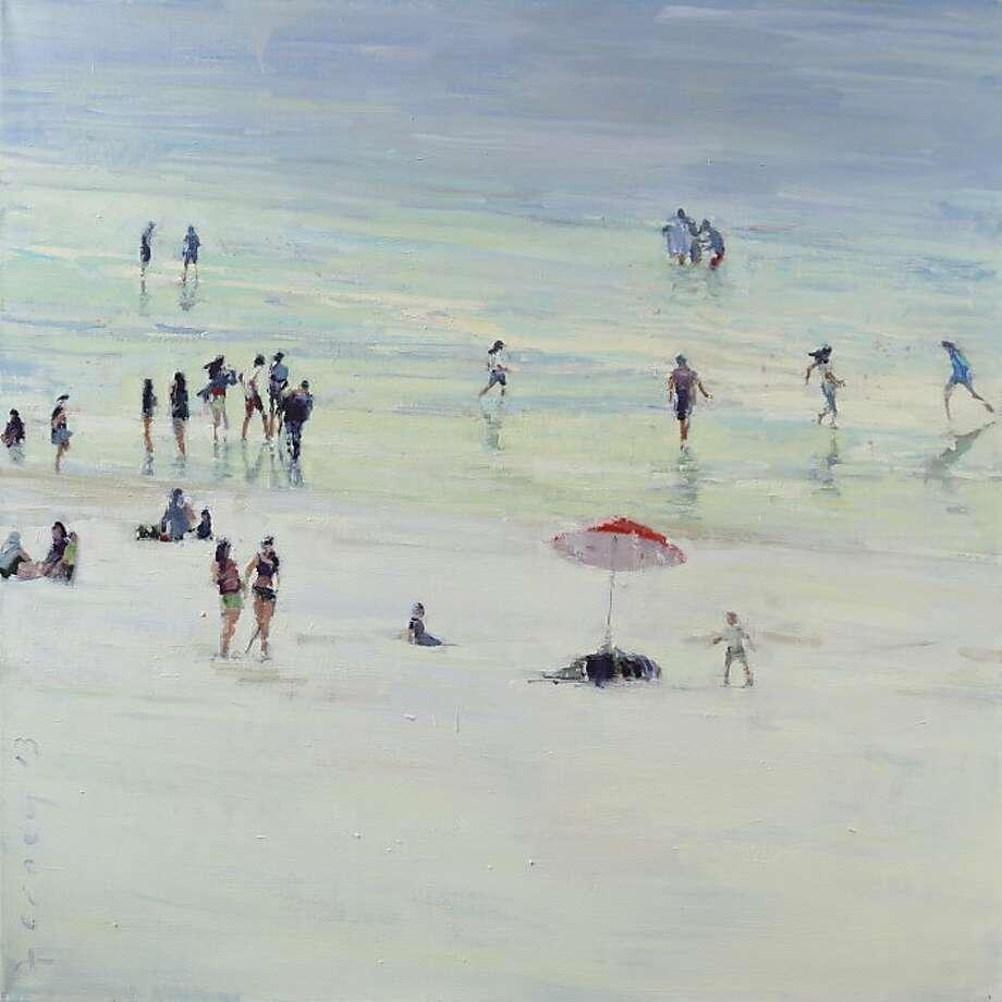 """""""Ocean Beach,"""" 36""""x36"""", oil on canvas Photo: Paul Ferney"""