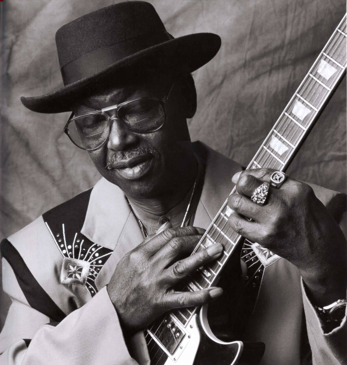 """""""Texas"""" Johnny Brown, shown in 1995, revived his music career late in life."""