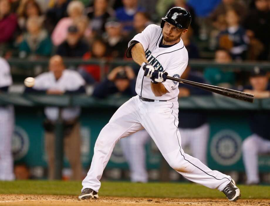 Dustin Ackley  | Grade: F second basemanMany had hoped Ackley would bounce back this season and live up to his No. 2-overall selection in the 2009 draft. That hasn't happened, and fans are sad. After a stint in Triple-A, he now finds himself back with the M's in the outfield. The second half will be very telling if this ''slump'' is going to be a permanent occurrence or if Ackley can find his swing again.   Average: .202 | On-base: .261 | Slugging: .245 | At-bats: 163 | Games: 48 Hits: 33 | RBI: 8 | Strikeouts: 32 | Doubles: 4 | Triples: 0 | Home runs: 1