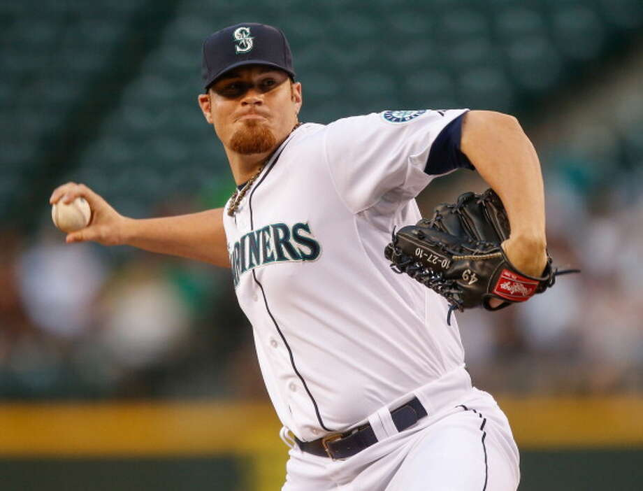 Blake Beavan | Grade: Dright-handed pitcherBeavan started the season in the bullpen, got sent down after a shaky April, then rejoined the big-league club in early June -- and has been just as expected: mediocre. A starter in 2012, he has mainly been used as a long reliever and continues to throw so-so stuff.  ERA: 5.97 | Record: 0-1 | Games: 11 | Innings: 37.2 Hits: 44 | Strikeouts: 25 | Walks: 7 | Earned runs: 25  Photo: Otto Greule Jr, Getty Images / 2013 Otto Greule Jr