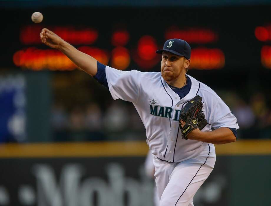 Aaron Harang | Grade: C right-handed pitcherHarang was brought in early this season when it became evident the Mariners could no longer stick with the likes of Blake Beavan and Brandon Maurer in the starting rotation. Aside from a rocky few starts, Harang has performed adequately as a stopgap. But he is just that – a temporary solution.  ERA: 5.08 | Record: 3-7 | Games: 13 | Innings: 72.2 Hits: 79 | Strikeouts: 60 | Walks: 11 | Earned runs: 41