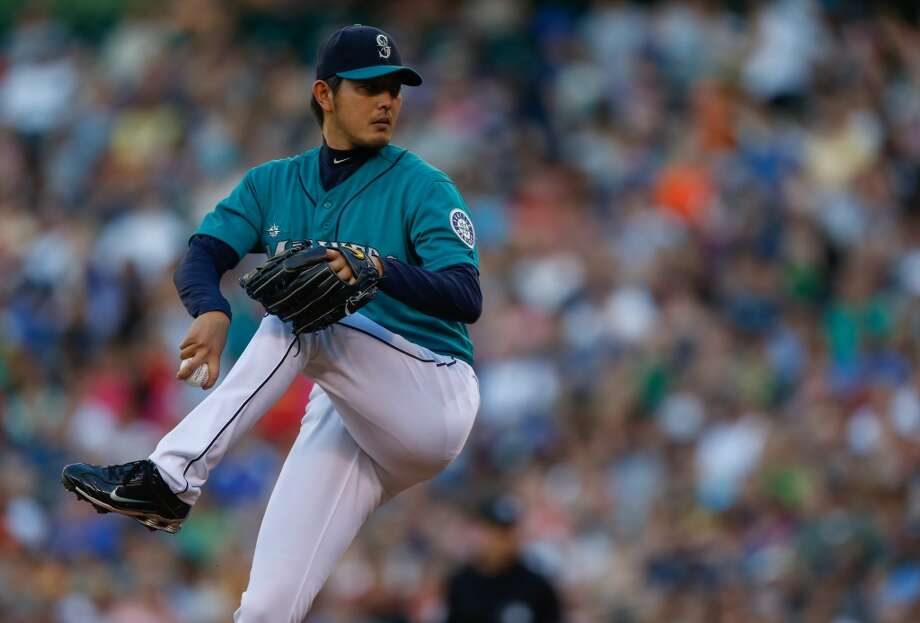 Hisashi Iwakuma | Grade: Aright-handed pitcherIt's not a huge surprise the Mariners have a Cy Young candidate in their rotation, but if you thought Hisashi Iwakuma would be that candidate, pat yourself on the back. The second-year pitcher out of Japan has been nothing short of spectacular this season, using a combination of fastball location and a nasty splitter, slider, curveball combination to baffle hitters. Halfway though the year, Iwakuma takes home top honors in this Mariners class.  ERA: 2.42 | Record: 7-3 | Games: 17 | Innings: 115.1 Hits: 84 | Strikeouts: 101 | Walks: 17 | Earned runs: 31