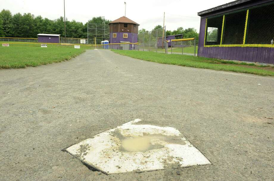 Home plate on one of the fields at Abner Doubleday Field on Monday, July 1, 2013 in Ballston Spa, N.Y. John Freeman, an umpire, was allegedly attacked there by a player's father and got into a heated argument with a coach following a disagreement over a call at home plate. The coach was suspended and John is looking to file charges against the parent. (Lori Van Buren / Times Union) Photo: Lori Van Buren / 00023020A