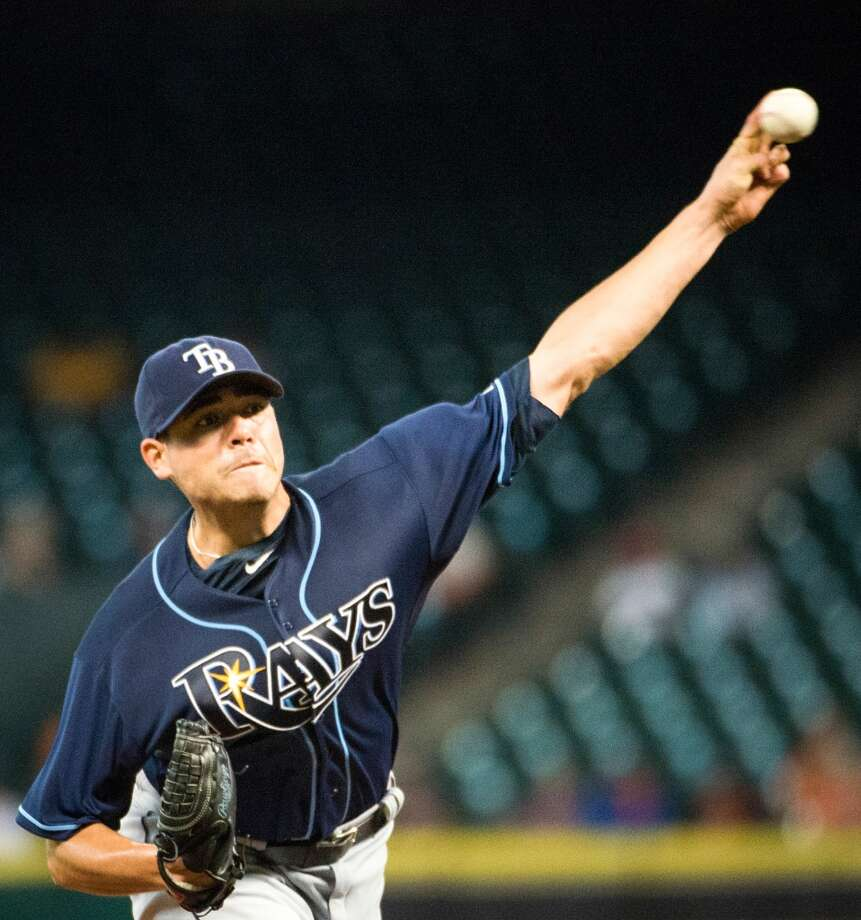 Rays starter Matt Moore pitches during the second inning.