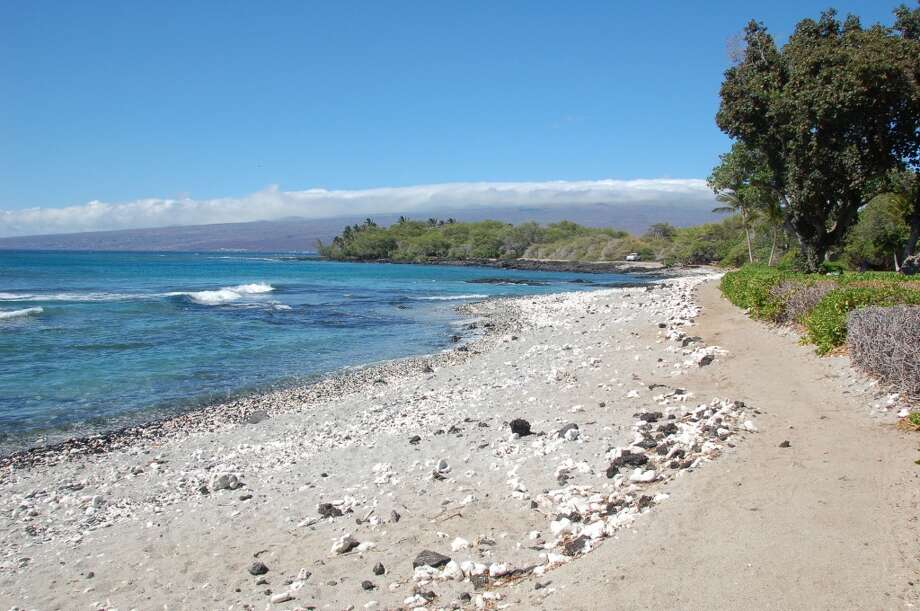 Clean sweep: Holoholokai Beach Park (shown) near the Fairmont Orchid and Puakō, to which this shoreline trail leads, were also among Hawaiʻi Island's top 15 in water testing.