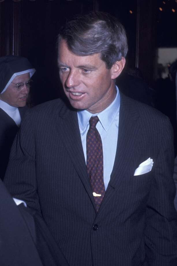 LOS ANGELES, CA - MAY 28:  Robert F. Kennedy attends Clergy For Kennedy Campaign Rally on May 28, 1968 at the Ambassador Hotel in Los Angeles, California. A week later, it was all over. (Photo by Ron Galella, Ltd./WireImage)