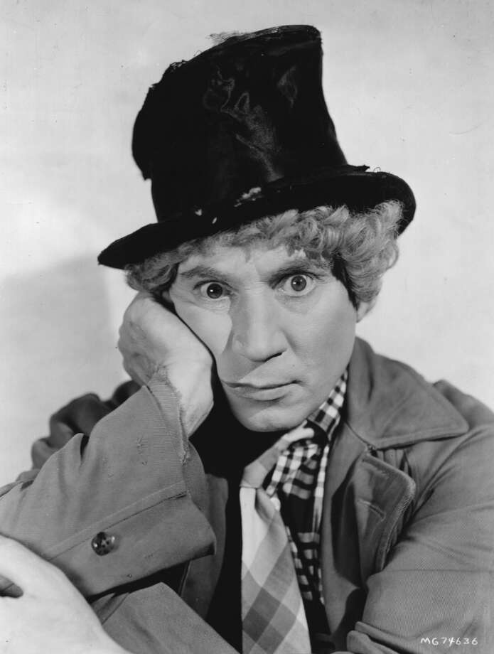 circa 1935:  American actor, musician and comic Adolph 'Harpo' Marx (1888 - 1964)  (Photo by Hulton Archive/Getty Images)