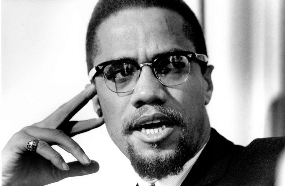 ROCHESTER, NY - FEBRUARY 16: Former Nation Of Islam leader and civil rights activist El-Hajj Malik El-Shabazz (aka Malcolm X and Malcolm Little) poses for a portrait on February 16, 1965, in Rochester, New York. (Photo by Michael Ochs Archives/Getty Images)