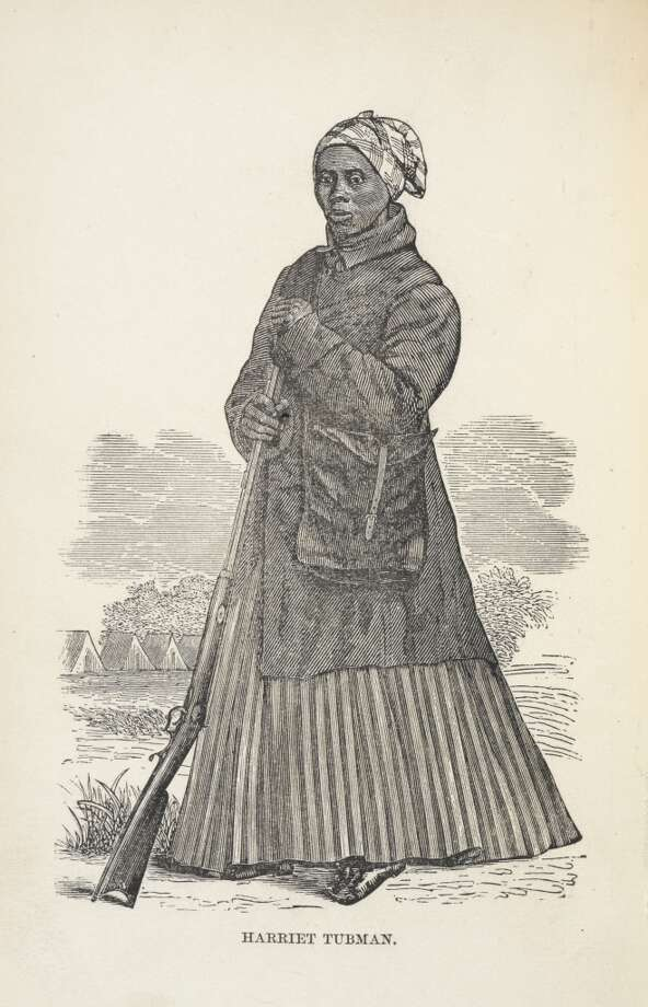 Harriet Tubman. Portrait. African-American abolitionist and Union spy during the American Civil War. She also campaigned for women 's suffrage, Author Sarah H. Bradford. (Photo by The British Library/Robana via Getty Images)