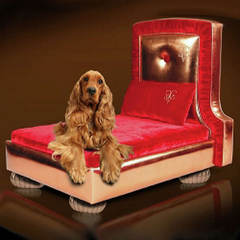 There's plenty of room for large dogs to stretch out on the Le Cuivre Dog Bed, $1,950 at TheClassyDog.com. There are an array of beds for more than three times that price. Photo: Contributed Photo / Westport News
