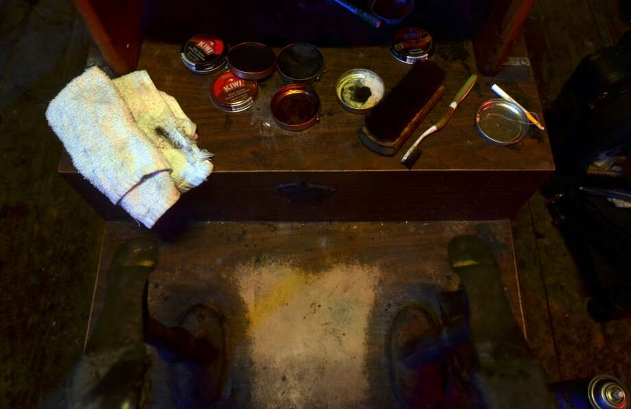 A trip to Whiskey River's Honky Tonk Wednesdays is not complete without a shoe shine from Ike. b