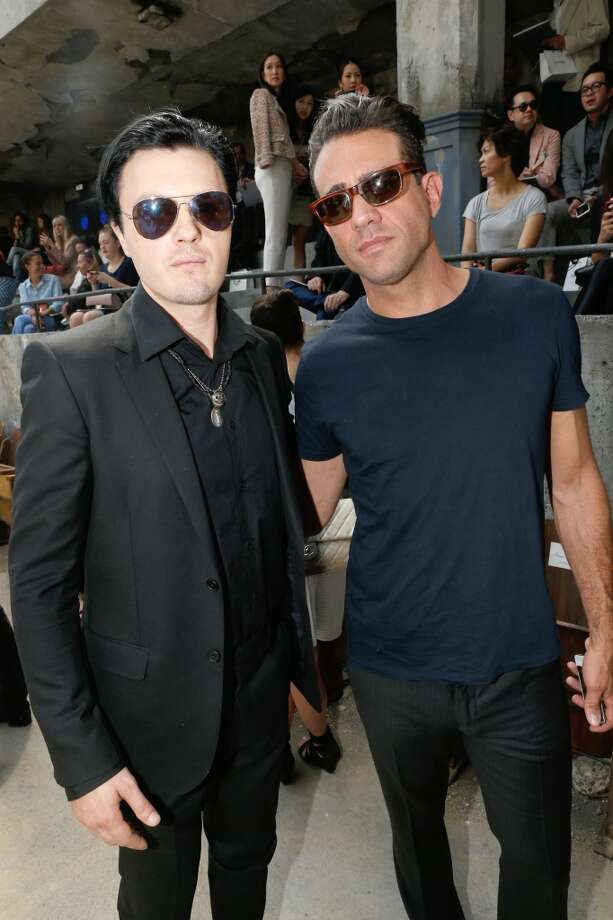 PARIS, FRANCE - JULY 02: Michael Pitt and Bobby Cannavale attend the Chanel show as part of Paris Fashion Week Haute-Couture Fall/Winter 2013-2014 at Grand Palais on July 2, 2013 in Paris, France.  (Photo by Bertrand Rindoff Petroff/Getty Images)