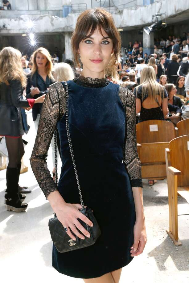 PARIS, FRANCE - JULY 02:  Alexa Chung attends the Chanel show as part of Paris Fashion Week Haute-Couture Fall/Winter 2013-2014 at Grand Palais on July 2, 2013 in Paris, France.  (Photo by Bertrand Rindoff Petroff/Getty Images)