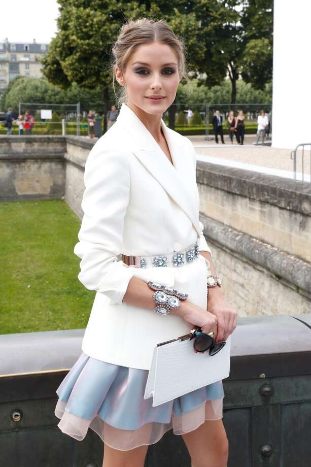 PARIS, FRANCE - JULY 01:  Olivia Palermo arriving at the Christian Dior show as part of Paris Fashion Week Haute-Couture Fall/Winter 2013-2014 at  on July 1, 2013 in Paris, France.  (Photo by Petroff/Dufour/Getty Images)