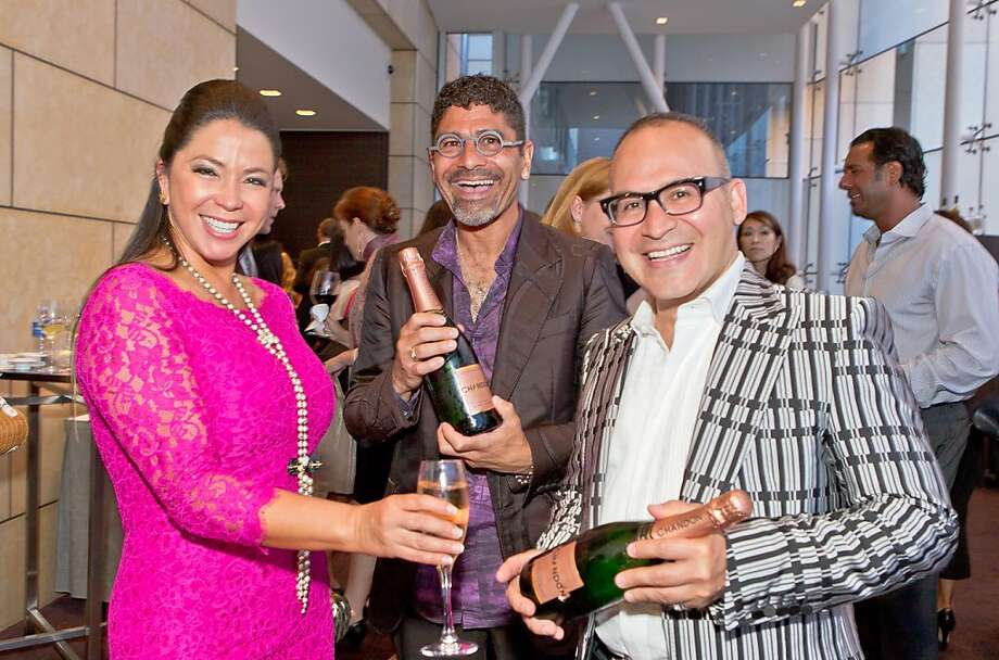 Maria Barrios, Angel Cintron and Steve Nava at the Dress for Success San Francisco Annual Fashion Celebration on June 27, 2013. Photo: Drew Altizer Photography
