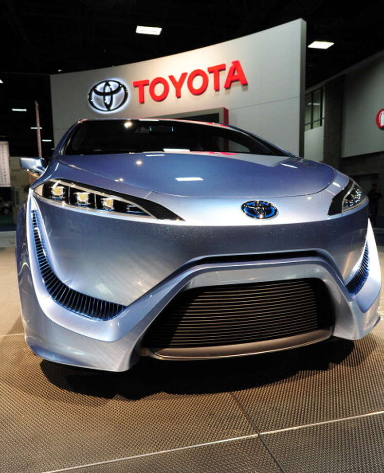 The Toyota FCV-R concept car on display February 2, 2012 at the 2012 Washington Auto Show at the Walter E. Washington Convention Center in Washington, DC. The auto show runs through February 5. AFP PHOTO/Karen BLEIER Photo: KAREN BLEIER, AFP/Getty Images / 2012 AFP