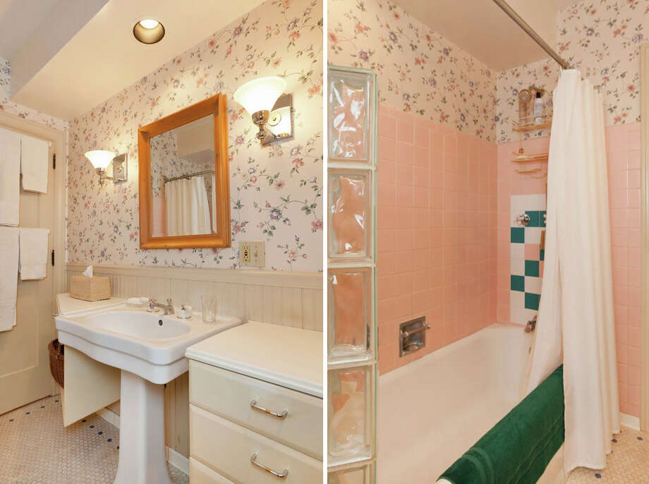 Bathroom of 2556 1st Ave. N. The 3,000-square-foot brick house, built in 1926, has three bedrooms, 1.75 bathrooms, a den, a library, a family room, vaulted ceilings, leaded glass, a balcony, a deck and a two-car garage on a 5,298-square-foot lot. It's listed for $795,000. Photo: Courtesy Stephen Hicks, Windermere Real Estate