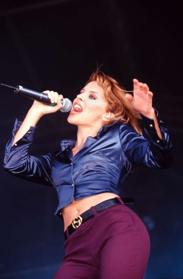 An undated 90s photo of Kylie Minogue