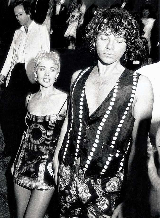 Kylie Minogue and Michael Hutchence circa '90-91.