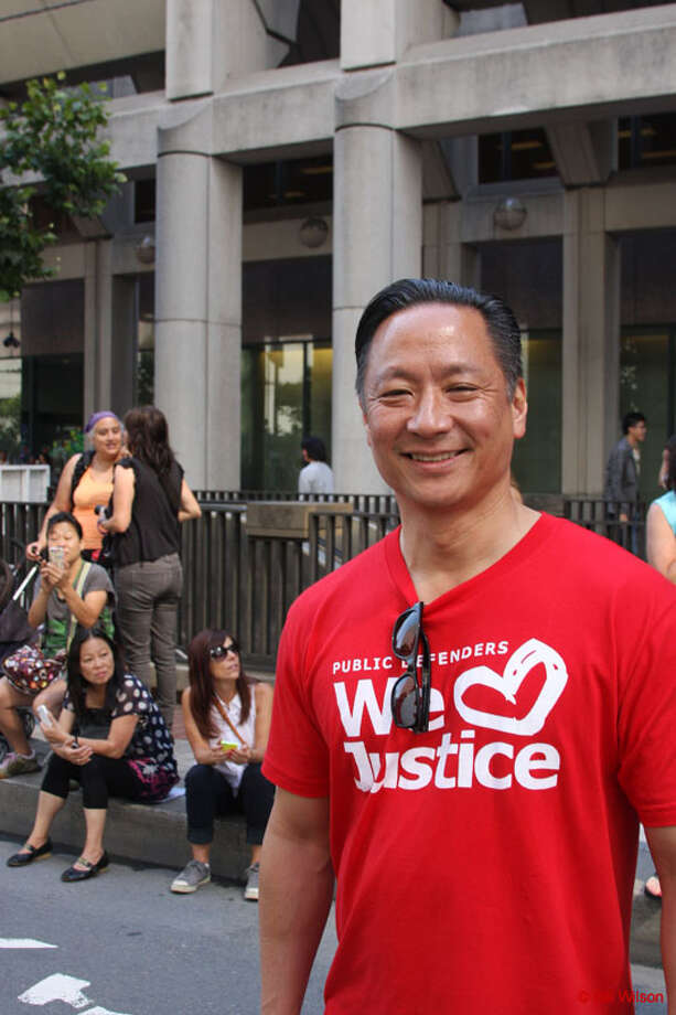 Public Defender Jeff Adachi clearly works out in the prison yard with his clients. A+!
