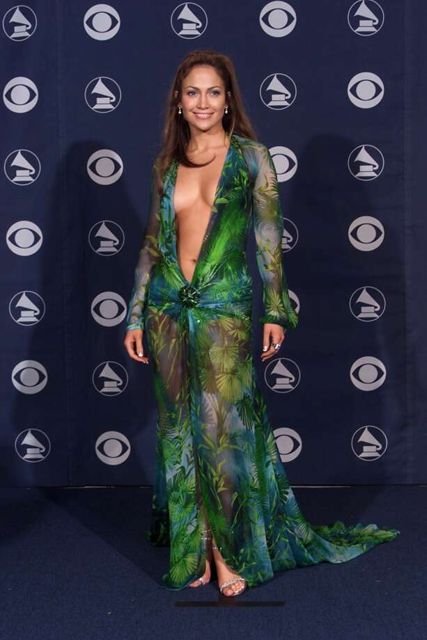 Jennifer Lopez backstage at the 42nd Annual Grammy Awards at Staples Center in Los Angeles on February 23, 2000.