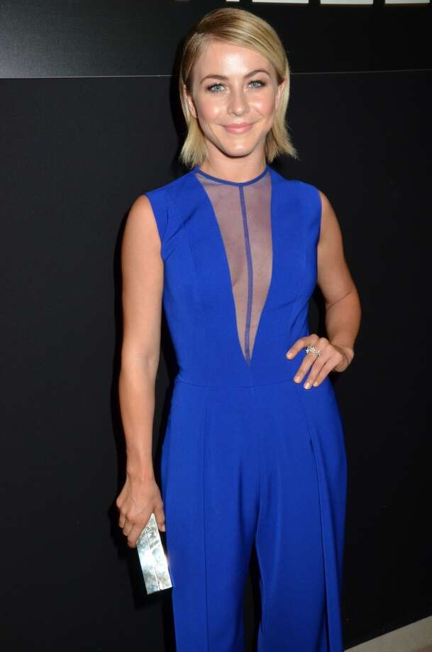 PARIS, FRANCE - JULY 01:  Julianne Hough attends the Georges Hobeika show during Paris Fashion Week Haute-Couture F/W 2013-2014 at Palais de Tokyo on July 1, 2013 in Paris, France.  (Photo by Foc Kan/WireImage)