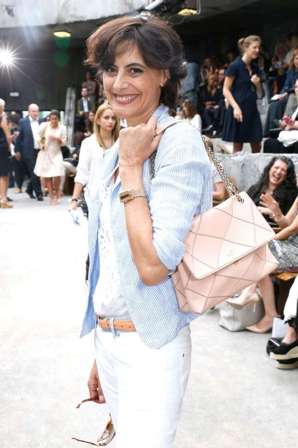 PARIS, FRANCE - JULY 02:  Ines de La Fressange attends the Chanel show as part of Paris Fashion Week Haute-Couture Fall/Winter 2013-2014 at Grand Palais on July 2, 2013 in Paris, France.  (Photo by Bertrand Rindoff Petroff/Getty Images)