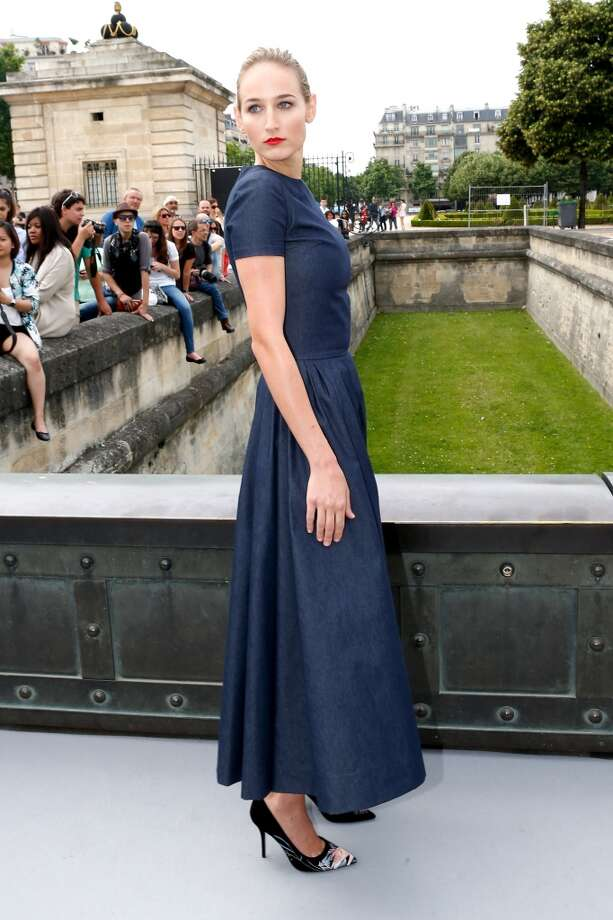 PARIS, FRANCE - JULY 01:  Actress Leelee Sobieski arriving at the Christian Dior show as part of Paris Fashion Week Haute-Couture Fall/Winter 2013-2014 at  on July 1, 2013 in Paris, France.  (Photo by Petroff/Dufour/Getty Images)