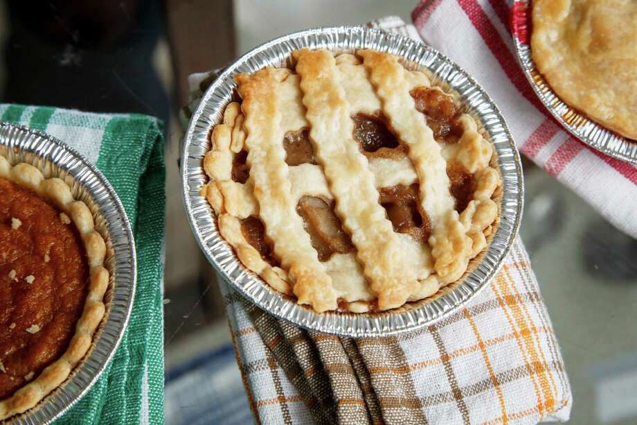 The Sugar Free Apple pie at Mighty Sweet Mini Pies, a new bakery owned by Carolyn Cronk Birden and her daughter Bianca Davis at 4525 N. Main, Thursday, June 13, 2013, in Houston. ( Michael Paulsen / Houston Chronicle ) Photo: Michael Paulsen, Staff / © 2013 Houston Chronicle